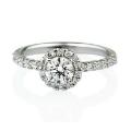 ヘイロ―ダイヤモンドリング