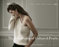 ミキモト公式ホームページのキャプチャ画像