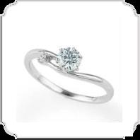 日本ダイヤモンド貿易の指輪