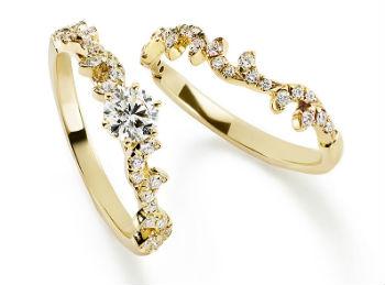 ARABESQUE ENGAGEMENT RING, ARABESQUE MARRIAGE RING